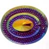 Glitz Sew-on Stone 10pcs Oval 40x50mm Fuchsia Aurora Borealis